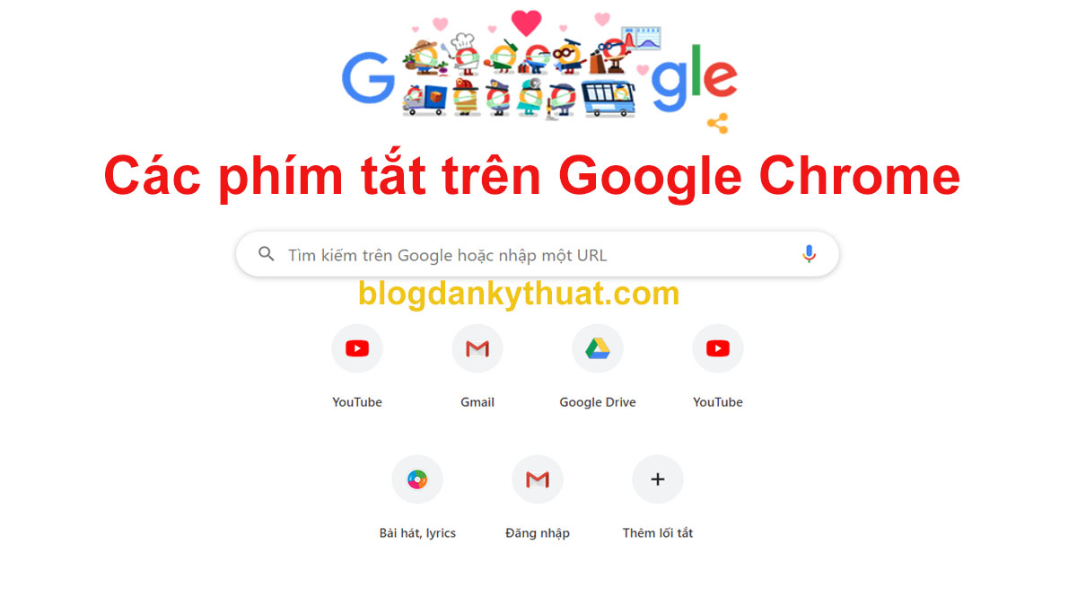 Thủ thuật Các phím tắt trên Google Chrome