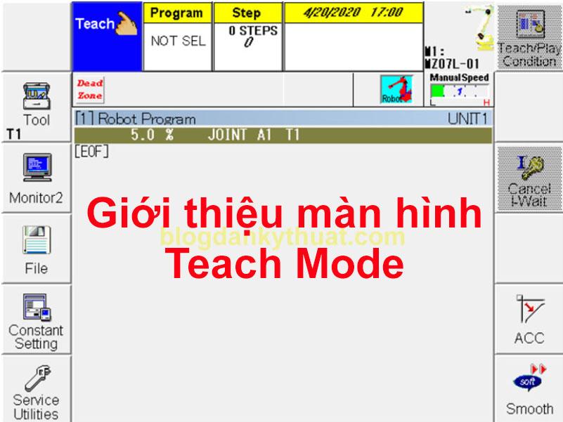 màn hình teach mode